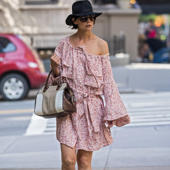 Katie Holmes Pink Zimmerman Dress May 2018
