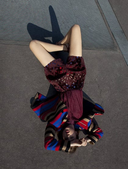 Sweet cutouts and bright stripes are indicative of Carven's playful style for Fall.