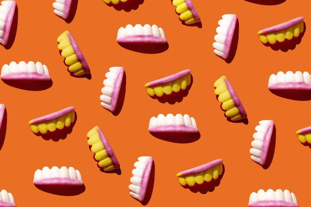 Vampire Teeth Zoom Background