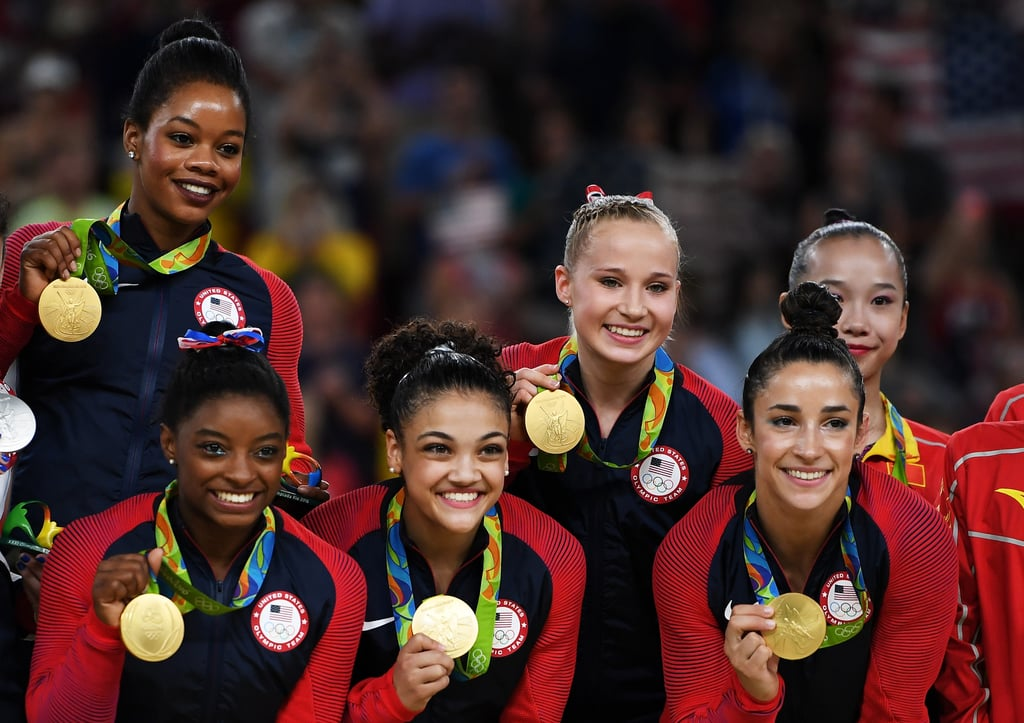"If you watched the USA's Final Five annihilate the Olympic Team Finals in Rio de Janeiro on Aug. 9, then you know 16-year-old Puerto Rican-American gymnast Laurie Hernandez was virtually unstoppable.  From her signature energetic floor routine that earned her the nickname ""Baby Shakira"" to her acrobatics on the beam and vault, Laurie's gold-worthy skills just kept getting better. Read on to relive some of her best moments of the night in pictures, including, of course, her adorable poses with that shiny new medal. Then, find out everything you need to know about the gymnast before discovering even more Latino athletes to follow during the Games."