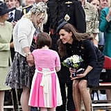 Kate Middleton and Prince William were the guests of honor at the Windsor Irish Guards Medal Parade in June 2011.