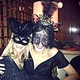Erin Heatherton and Harley Viera-Newton spent New Year's Eve together at a masquerade party. Source: Twitter user harleyvnewton