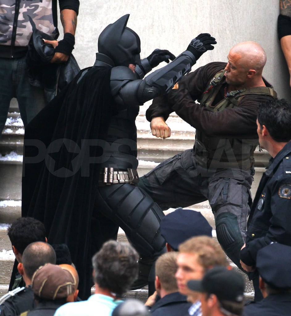 Batman and Bane battled it out in Pittsburgh.