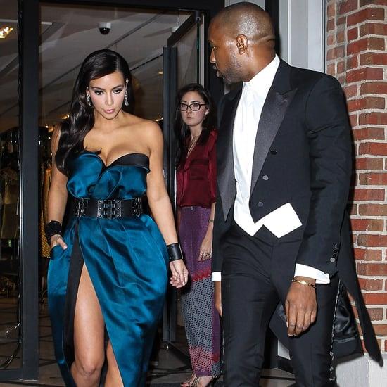 Kim Kardashian and Kanye West at the Met Gala 2014