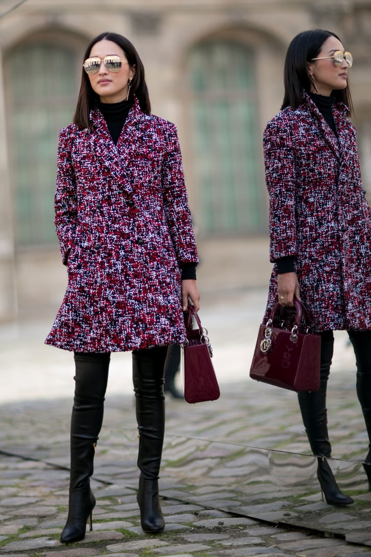 Add Intrigue To All Black With A Great Coat Styling Hacks From Fashion Week Street Style