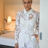 Elyse Knowles Outfit and Makeup at the Polo
