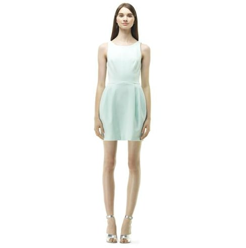 You don't have to veer far from the all-white palette, and this Club Monaco Lanna Dress ($170) takes the prettiest stance on a soft mint hue. For extra shape, you can add a bejeweled belt (perhaps, a bow-tie version), too.
