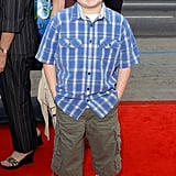 Angus hits the red carpet for the premiere of Scooby Doo 2: Monsters Unleashed in March 2004.