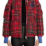Moncler Genius x 2 1952 Aven Patch Embellished Tartan Down Puffer Coat