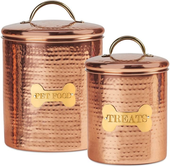King Charles Copper Dog Canister Pretty Pet Products POPSUGAR