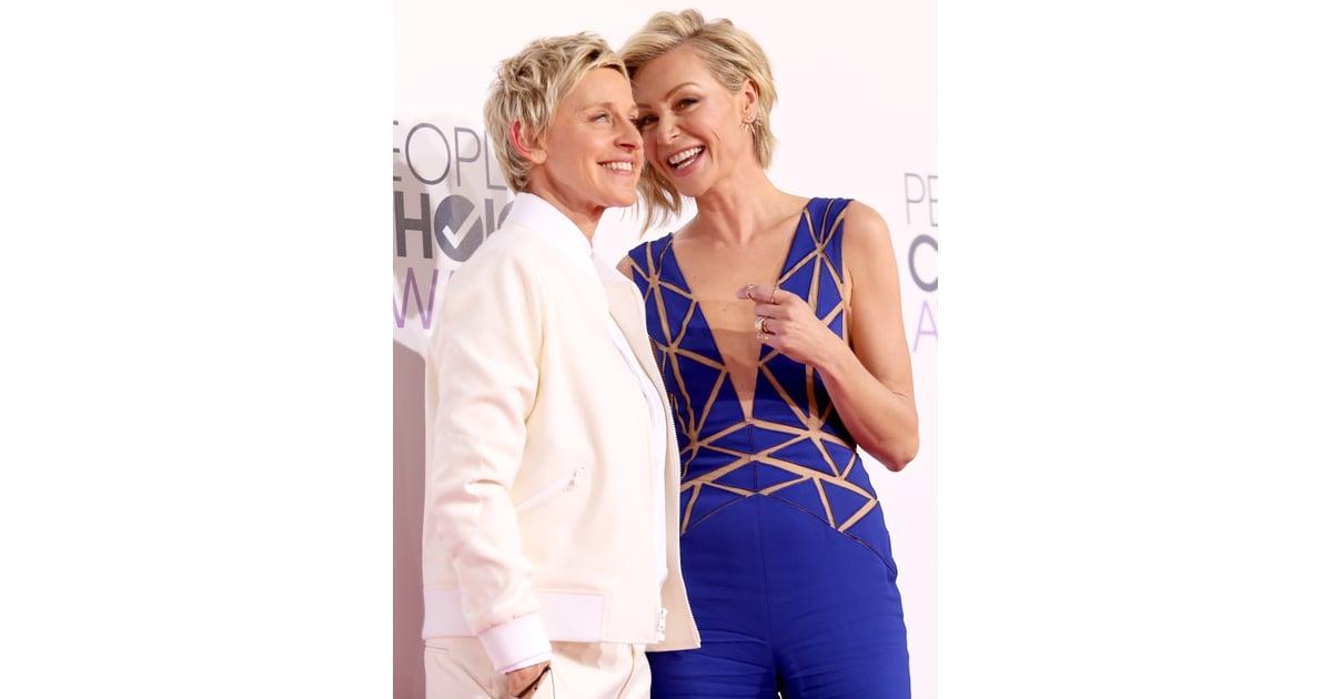 Ellen degeneres and portia de rossi celebrity couples for Ellen degeneres and portia de rossi story