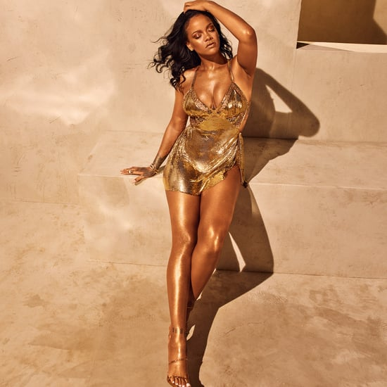 Rihanna's Gold Minidress Fenty Beauty