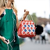 It probably doesn't come as a huge surprise that Natalie Joos is the lucky owner of that handbag.