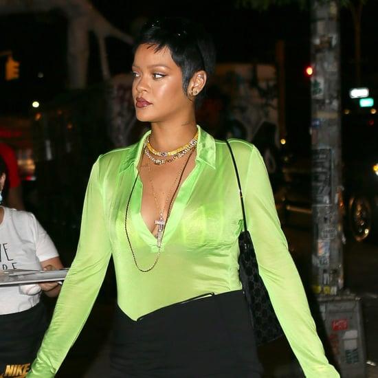 Rihanna Wears Supriya Lele Lime-Green Top and Miniskirt