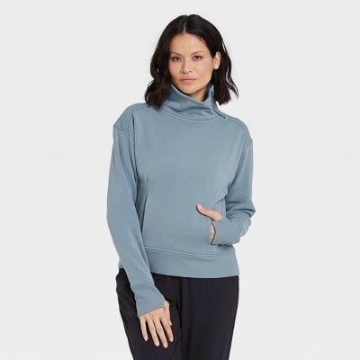 All in Motion Asymmetrical Zip Pullover Sweatshirt