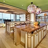 The kitchen includes every amenity Tyra or a pro chef could desire, from state-of-the-art appliances to massive center islands.
