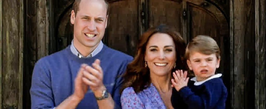 William, Kate, George, Charlotte, and Louis Clap For Carers