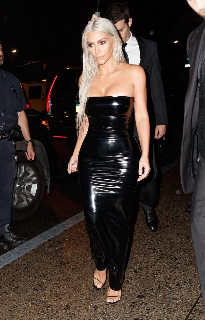 Kim Kardashian Wearing Tom Ford Dress at Fashion Week | POPSUGAR Fashion
