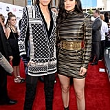On the red carpet for the 2015 Billboard Music Awards, Kendall and Kylie turned up the heat in edgy creations from the line.