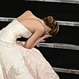 When Everyone Loved Her Even More For Falling at the Oscars