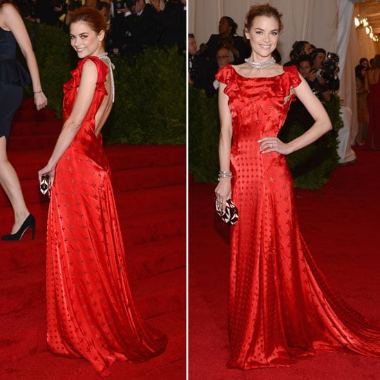 Pictures of Jaime King in Custom Topshop Red Gown on the Red Carpet at the 2012 Met Costume Institue Gala: Rate It or Hate It?