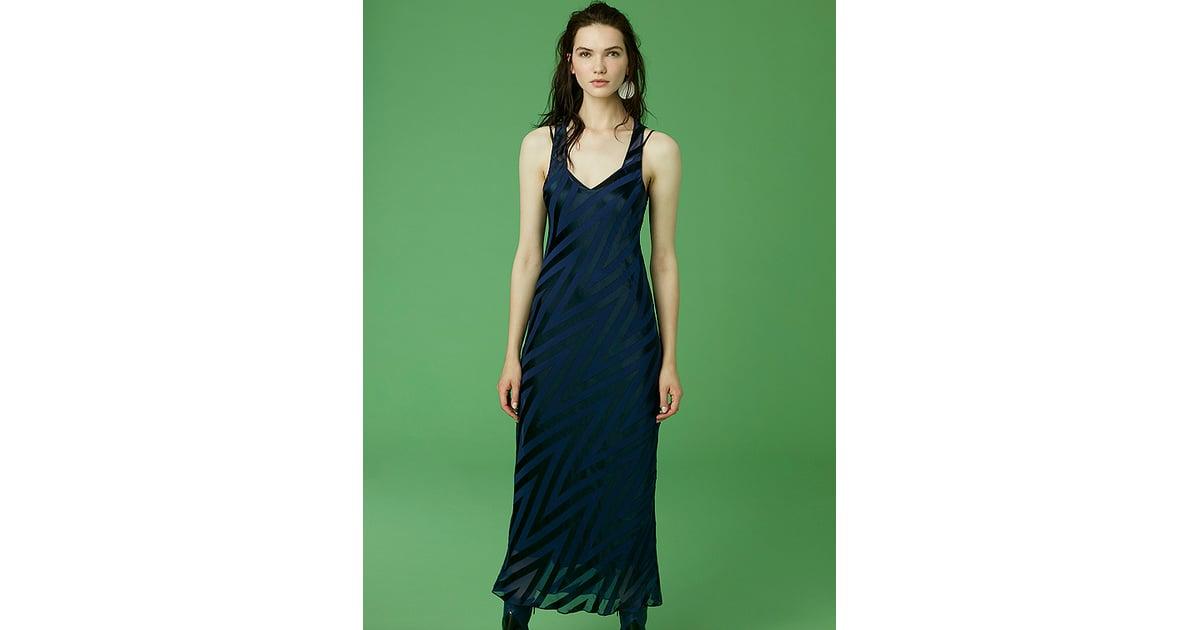 Diane von Furstenberg Scoopneck Burnout Midi Dress | DVF Dresses ...