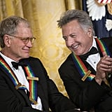 Honorees David Letterman and Dustin Hoffman shared a moment.