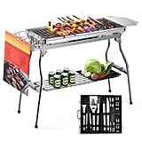 Glotoch Express Portable Stainless Steel Charcoal Barbecue Grill