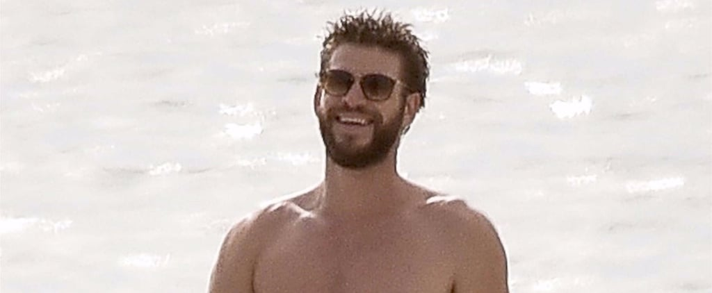 Liam Hemsworth Shirtless in Georgia Pictures October 2017