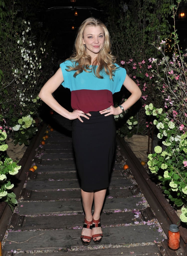 Natalie Dormer wore a simple frock.