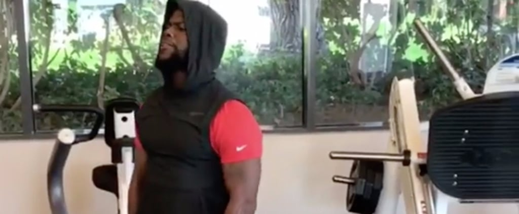 Kevin Hart Demonstrates Why Towels Are a Workout Essential — but Not in the Way You Think