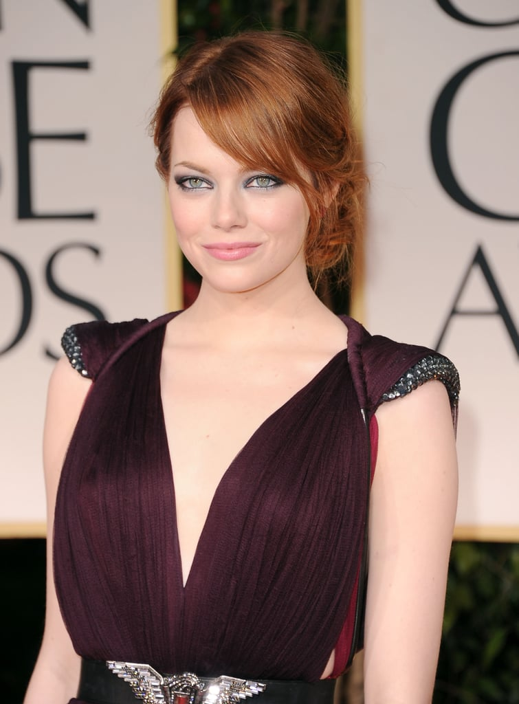 Emma Stone wearing Lanvin at the Golden Globes.