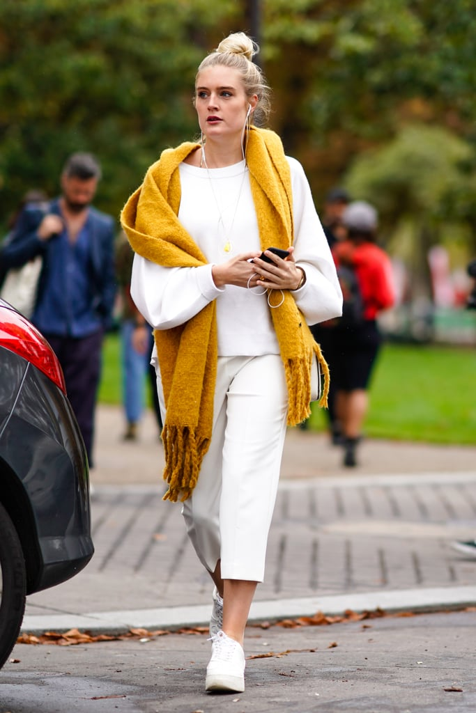 fancy yellow scarf outfit 12