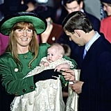 Sarah and Andrew gushed over their baby daughter Beatrice at her christening in 1988.
