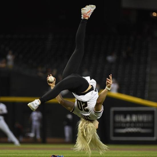 Watch Gymnast Jade Carey Flip Into First Pitch at MLB Game
