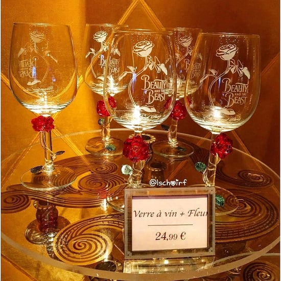 Disneyland Paris Enchanted Rose Wine Glasses