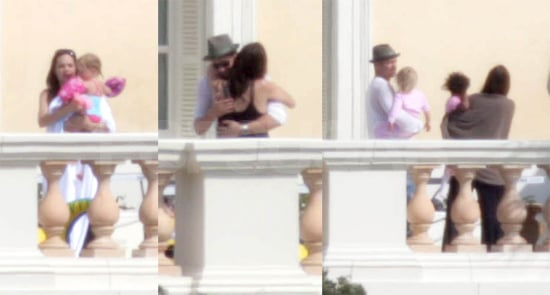 Brad and Angie Practice PDA While Shiloh Gets Her Swim On