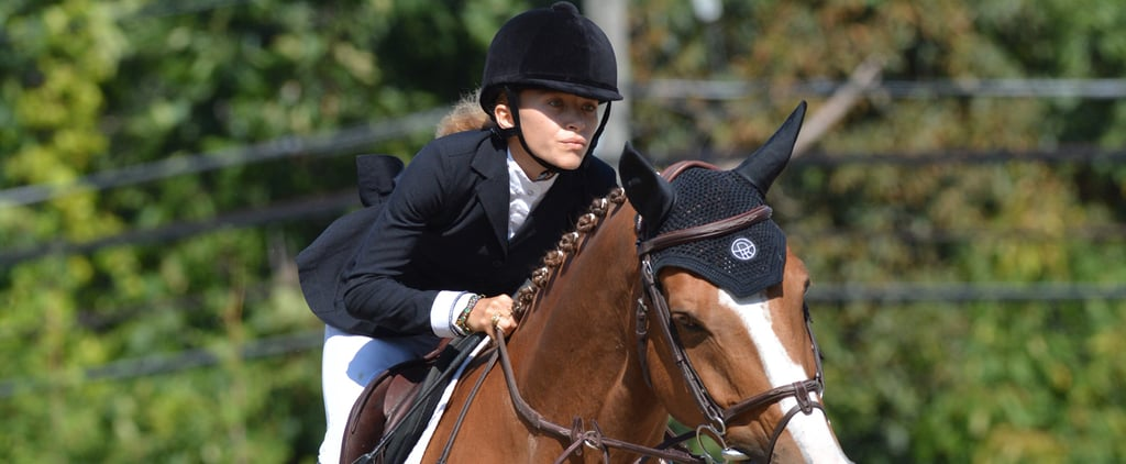 Mary-Kate Olsen Goes For the Gold at a Horse Show