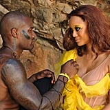 Tyra cozied up to Tyson during their scene, but Angelea also got a hug from him during hair and makeup after asking for one.  Photo courtesy of The CW