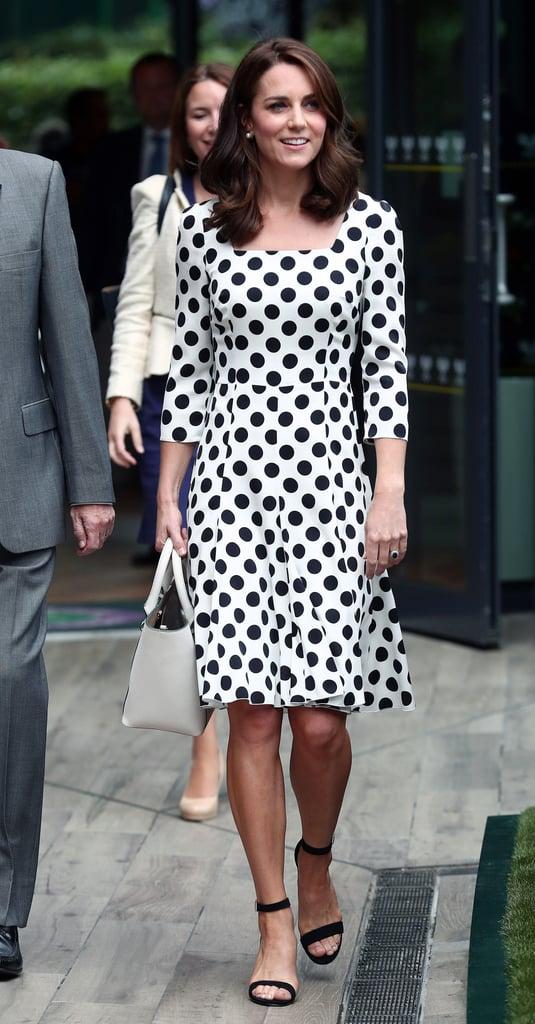 Kate Middleton Dolce And Gabanna Dress At Wimbledon 2017