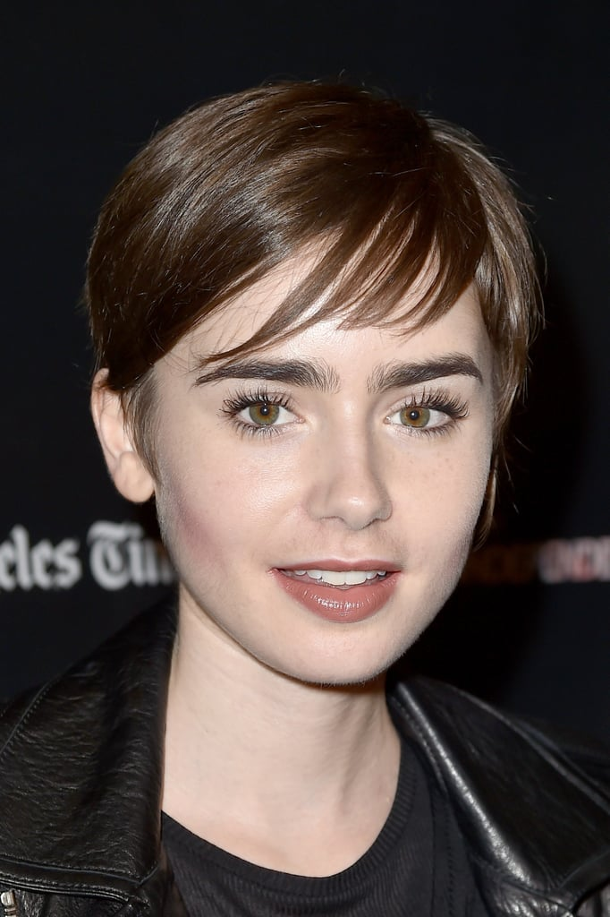 Lily Collins Looks Like A Modern Day Audrey Hepburn With Her Pixie