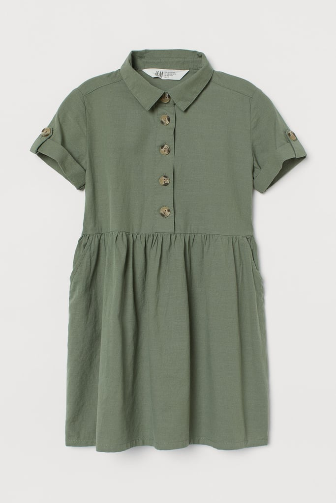 Collared Cotton Dress