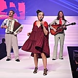 Catherine Ringer Performing on the Jean-Paul Gaultier Runway
