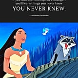 """If you walk the footsteps of a stranger, you'll learn things you never knew you never knew."" — Pocahontas, Pocahontas"