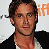 Ryan Gosling showed off his tan in a white v-neck tee.