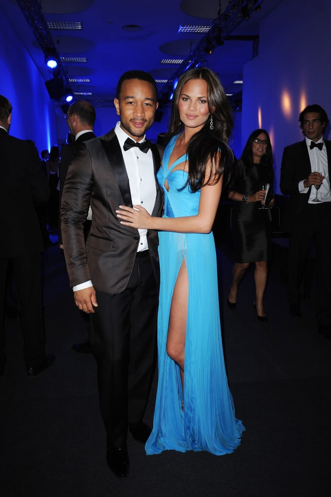 John Legend was joined by Chrissy Teigen at the event.
