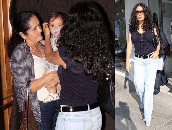 Photos of Salma Hayek With Mom Diana and Baby Valentina