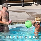 Britney Spears and David Lucado logged time in the pool.