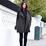 It may be simple, but a great piece of outerwear totally makes this look. Source: Lookbook.nu