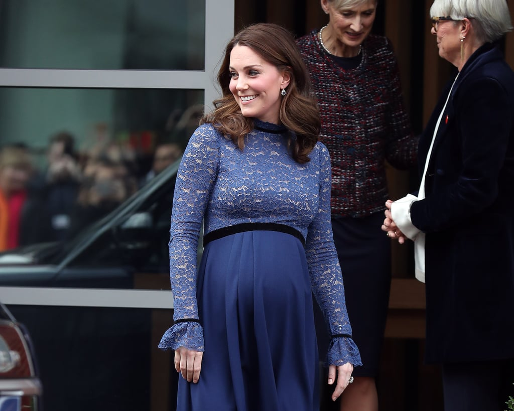 Kate Middleton Wearing Blue During Third Pregnancy